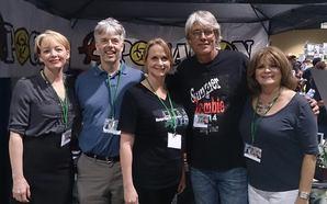 Authors A.R. Shaw, Doug Bornemann, me, David Forsythe, and Kathy Porter
